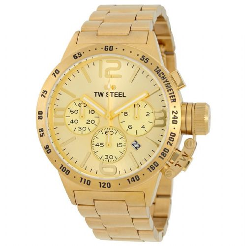 TW STEEL Canteen 45mm Gold Chronograph Gents Watch CB103